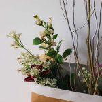 flower arrangement in a bag